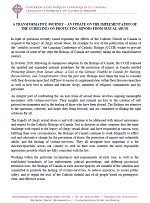 CCCB Statement - Implementation of the Guidelines on Protecting Minors from Sexual Abuse