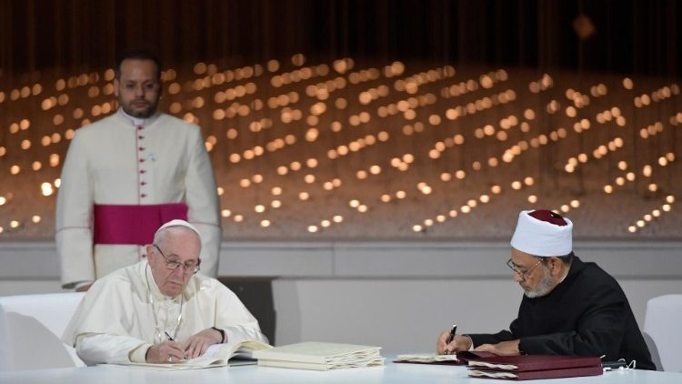 Document on Human Fraternity for world peace and living together: Pope Francis